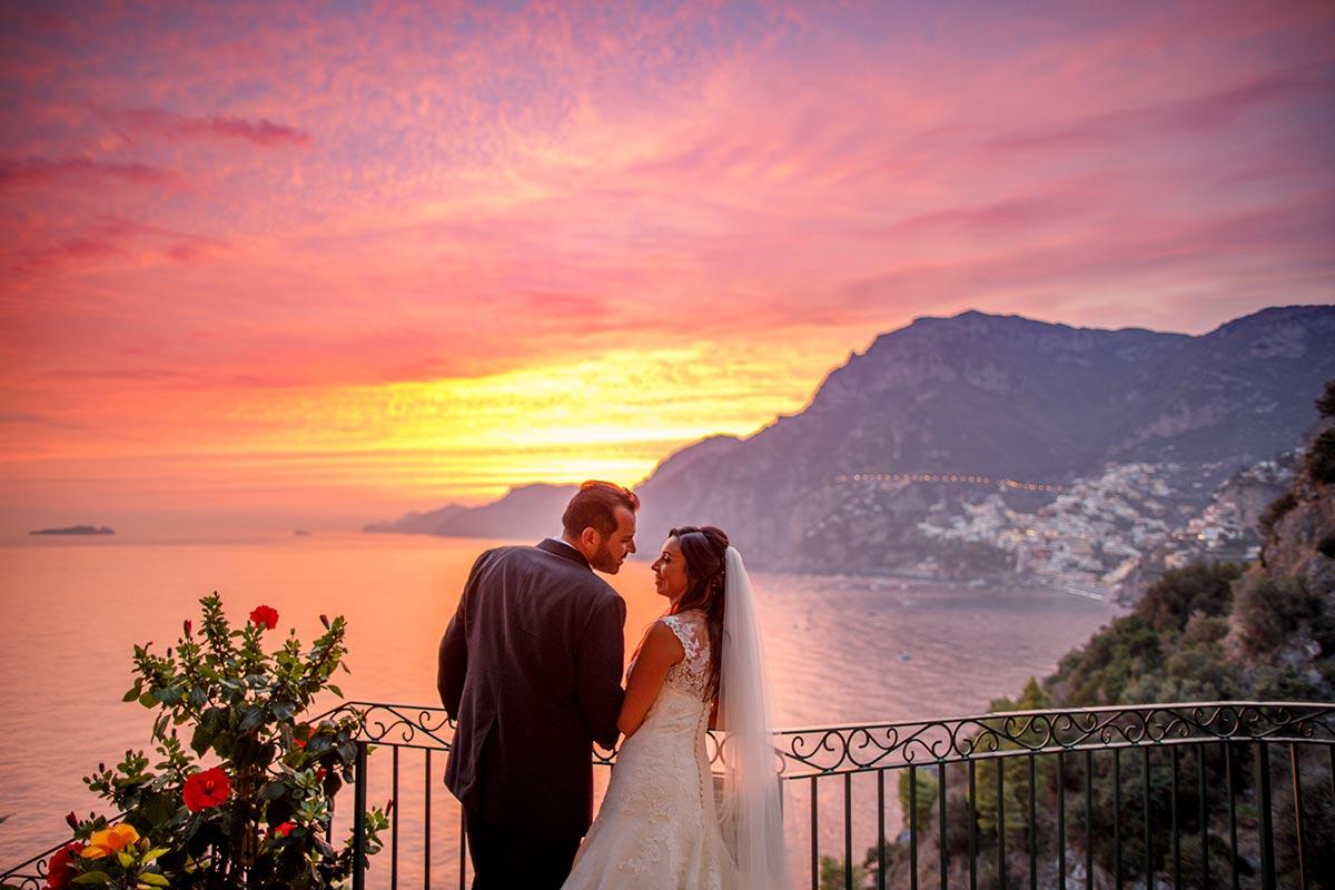 Sunset Wedding In Amalfi Coast